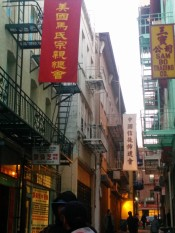 glimpse of the crowded Chinatown